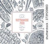 vietnamese food. linear graphic....   Shutterstock .eps vector #373920883