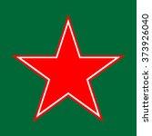 Pentagram Icon Red White Star...