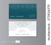 visit cards set with arabic...   Shutterstock .eps vector #373926370