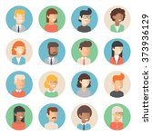 people icon set male and female ... | Shutterstock .eps vector #373936129