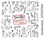 vector doodle style arrow set.... | Shutterstock .eps vector #373937044