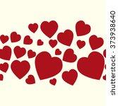 valentine pattern. seamless... | Shutterstock .eps vector #373938640