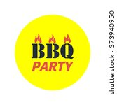 distressed bbq vector icon | Shutterstock .eps vector #373940950