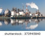 industrial view at oil refinery ... | Shutterstock . vector #373945840