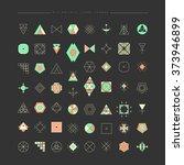 big set of minimal geometric...   Shutterstock .eps vector #373946899