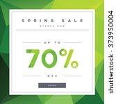 spring sales banner on green... | Shutterstock .eps vector #373950004