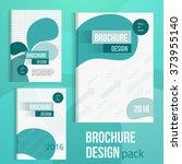 brochure set cover design... | Shutterstock .eps vector #373955140