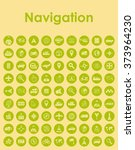 set of navigation simple icons | Shutterstock .eps vector #373964230