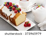 yogurt pound cake for breakfast ... | Shutterstock . vector #373965979