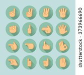 hand icon set   Shutterstock .eps vector #373966690