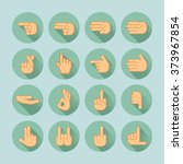 hand icon set | Shutterstock .eps vector #373967854