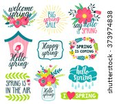 vector set of beautiful labels