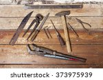 old and rusty work tools on... | Shutterstock . vector #373975939