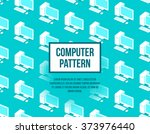 personal computer seamless flat ...   Shutterstock .eps vector #373976440