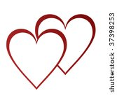 two hearts | Shutterstock . vector #37398253