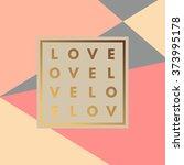romantic love gold minimal logo ... | Shutterstock .eps vector #373995178