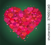 valentine s day hearts. vector... | Shutterstock .eps vector #374001160