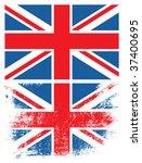grunge uk flag.   Shutterstock .eps vector #37400695