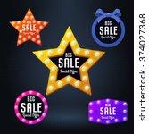 set of vector sale banner and... | Shutterstock .eps vector #374027368