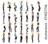 women diversity united girls  | Shutterstock . vector #374027746