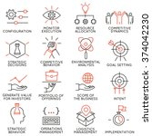 vector set of 16 icons related... | Shutterstock .eps vector #374042230