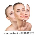 beauty concept before and after ...   Shutterstock . vector #374042578