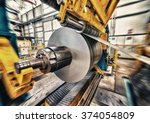 metal coils machine. interior... | Shutterstock . vector #374054809