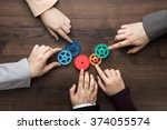 teamwork concept. different... | Shutterstock . vector #374055574