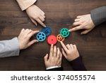 teamwork concept. different... | Shutterstock . vector #374055574