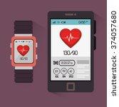 fitness lifestyle design  | Shutterstock .eps vector #374057680