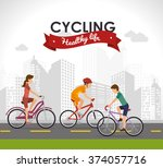 bicycle lifestyle design  | Shutterstock .eps vector #374057716