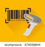 code bar design  | Shutterstock .eps vector #374058844