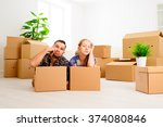 moving to a new apartment.... | Shutterstock . vector #374080846