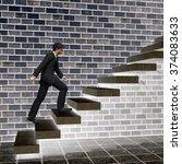 concept 3d man or  businessman... | Shutterstock . vector #374083633