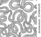seamless vector hand drawn... | Shutterstock .eps vector #374084140