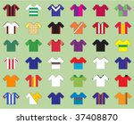 football kits | Shutterstock .eps vector #37408870
