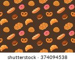 bread seamless pattern | Shutterstock .eps vector #374094538