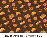 bread seamless pattern   Shutterstock .eps vector #374094538