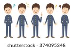 junior high school student | Shutterstock .eps vector #374095348