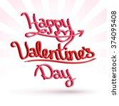 happy valentine's day | Shutterstock .eps vector #374095408