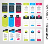 set of pricing table design... | Shutterstock .eps vector #374099128