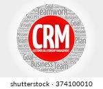 crm   customer relationship...   Shutterstock .eps vector #374100010