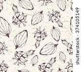 seamless pattern plantain... | Shutterstock .eps vector #374105149