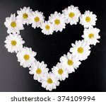Heart With Daisy Flowers