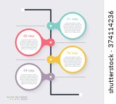 vector colorful info graphics... | Shutterstock .eps vector #374114236
