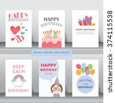 birthday  holiday  christmas... | Shutterstock .eps vector #374115538