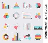 business data market elements... | Shutterstock .eps vector #374117068