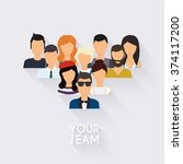 business team. business people... | Shutterstock .eps vector #374117200