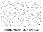 set of hand drawn arrows....   Shutterstock .eps vector #374121460