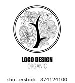 design elements for organic... | Shutterstock . vector #374124100